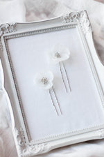 Flower Hair Petal Wedding Hair Pins
