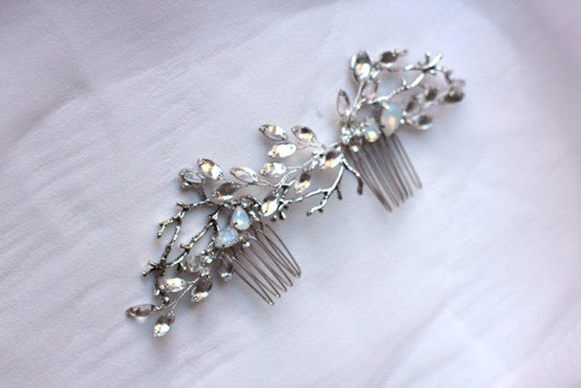 Bridal Hair Comb with Twigs