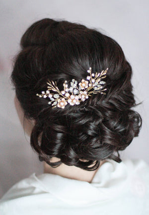 Wedding Floral Bobby Hair Pins PAIR