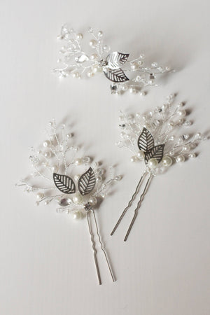 Bridal Hair Accessory Rustic Hair Pins PAIR