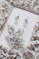 Bridal Earrings Wedding Jewelry Earrings Matching Hair Comb Earrings