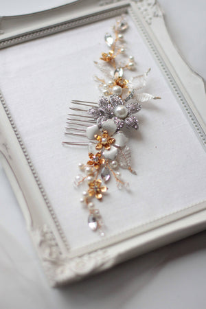 Crystal Decorated Wedding Bridal Hair Comb