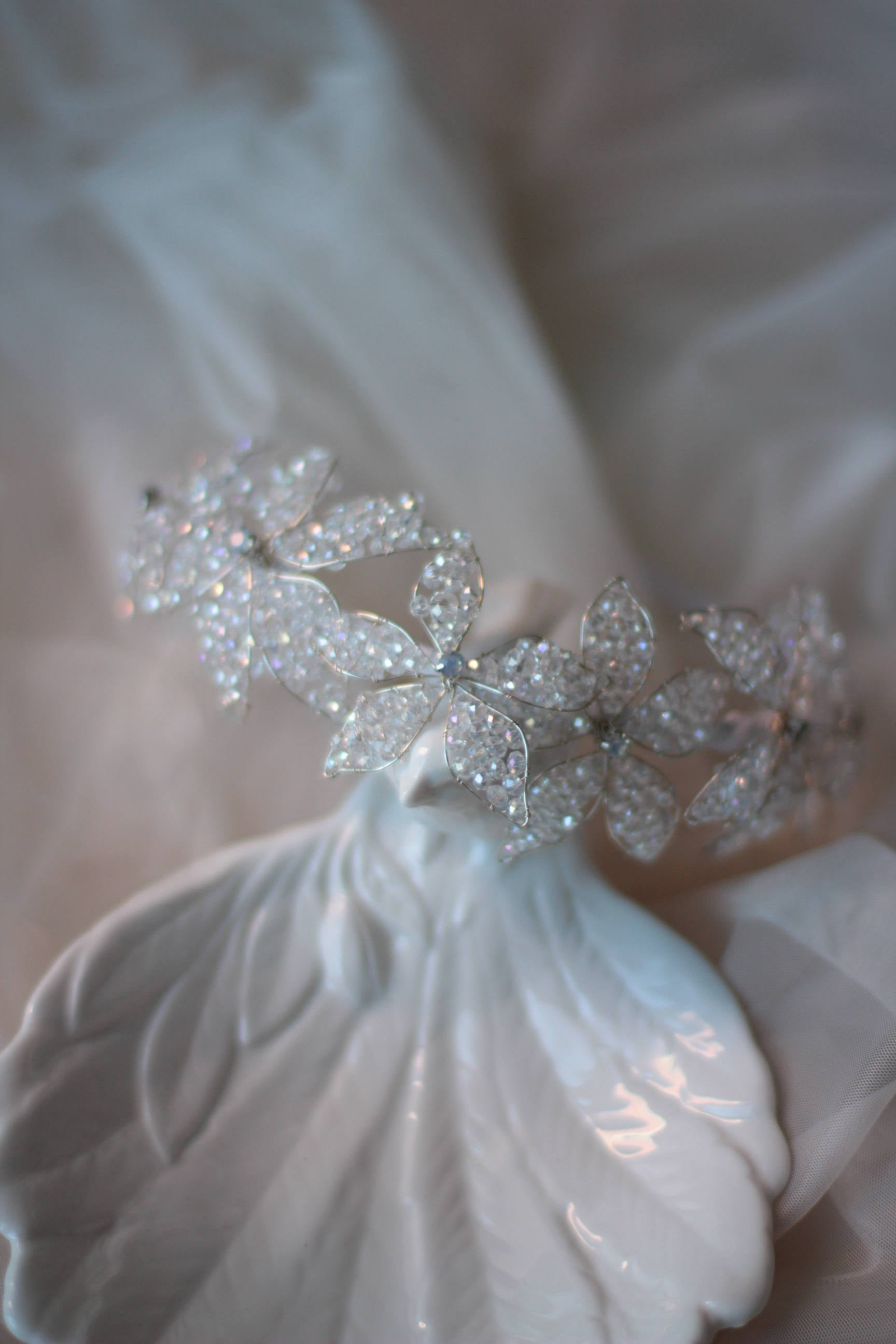 Bridal Flower Crown Tiara Headpiece