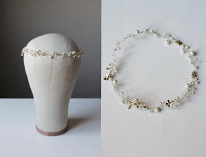 Bridal Headband Royal Family Monaco Wedding Swarovski Pearl Headpiece