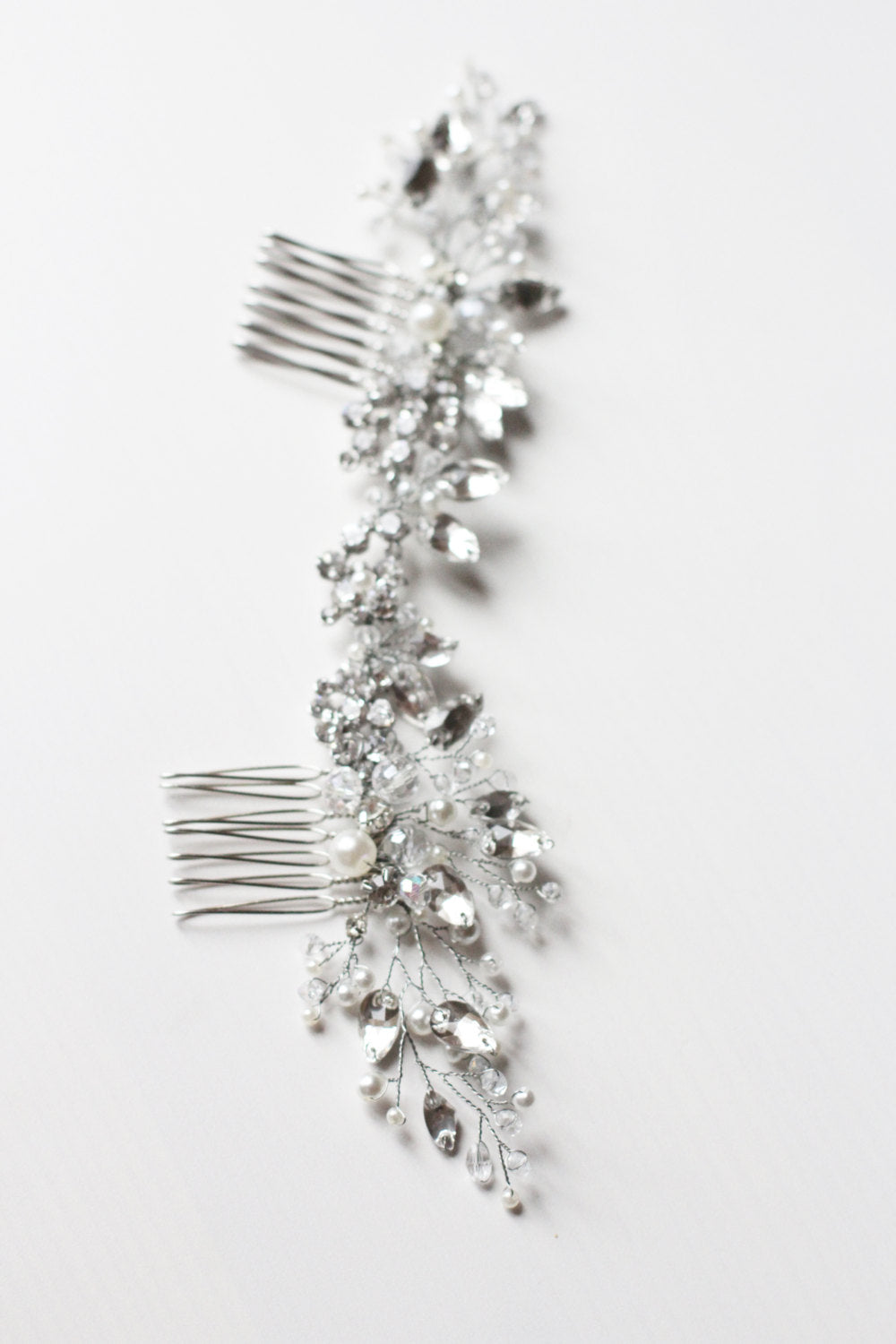 Double Back Comb Swarovski Wedding Hair Comb