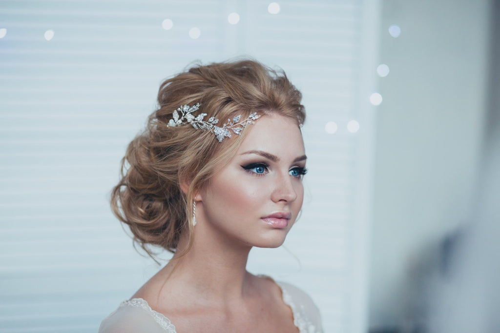 Wedding Hair Pins and Earrings Set