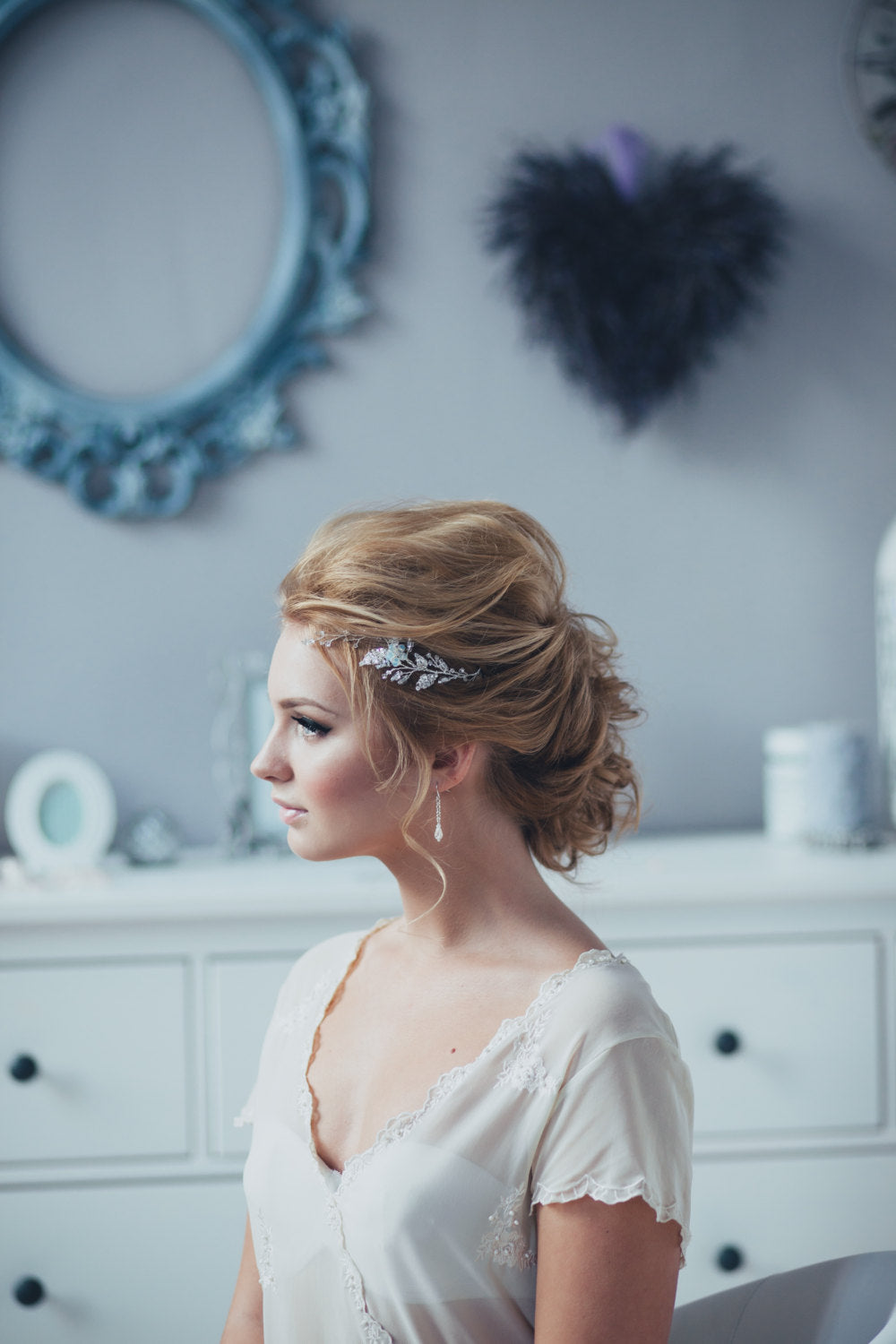 Bridal Hair Pins Long Adornment Hair Pins Set of Two