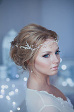 Baby Glass Halo Crystal Decorated Wedding Bridal Hair Vine