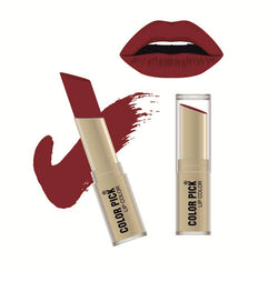 Color Pick Italina Matte Lipstick (5-8 hrs) Dusky Red