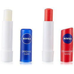 Nivea Fruity Shine Lip Balm- Strawberry + Free Original Care Lip Balm