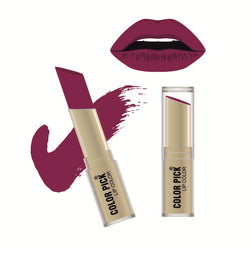 Color Pick Italina Matte Lipstick (5-8 hrs) Dark Magenta