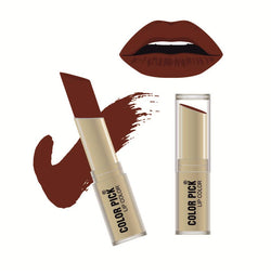 Color Pick Italina Matte Lipstick (5-8 hrs) Dark Brown