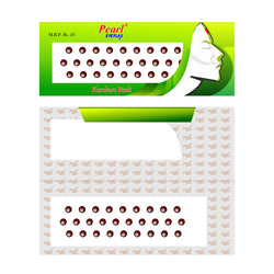 Pearl Eyeflax Round Maroon Bindi with Stone Single Flap - 22 (1 FLAP)