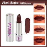 Perpaa Push Button Matte Maroon Lipstick and Dark Maroon Round Bindi Combo (5-8 Hrs Stay) (Bindi Size 8, Diameter 2.5 mm)
