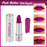 Perpaa Push Button Matte Magenta Lipstick and Dark Maroon Round Bindi Combo (5-8 Hrs Stay) (Bindi Size 5, Diameter 5 mm)