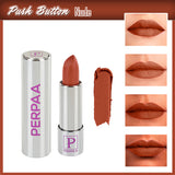 Perpaa Push Button Nude Lipstick and Dark Maroon Round Bindi Combo (5-8 Hrs Stay) (Bindi Size 9, Diameter 2 mm)