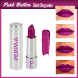 Perpaa Push Button Matte Magenta Lipstick and Light Maroon Round Bindi Combo (5-8 Hrs Stay) (Bindi Size 1, Diameter 14 mm)