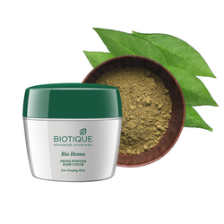 Biotique Bio Heena Fresh Powder Hair Color for Greying Hair, 90g