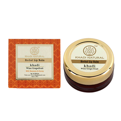 Khadi Natural Wine Grapefruit Lip Balm- With Beeswax & Honey