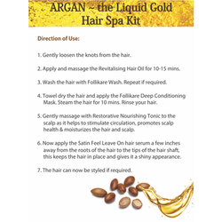 Aroma Treasures Argan-Liquid Gold Hair Spa by Aroma Treasures - 30 gm