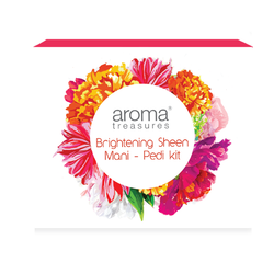 Aroma Treasures Brightening Sheen- Mani Pedi Kit (One Time Use Kit)