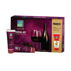 Astaberry Wine Facial Mini Kit + Free get Astaberry skin fruit face wash