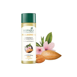 Biotique Bio Almond Oil Soothing Face & Eye Make Up Cleanser for Normal To Dry Skin (120ml)