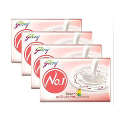 Godrej No.1 Kesar & Milk Cream Soap 100gm