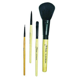 Make-up Brush Set of 4 (FMB012) ~ Eye liner brush, Lip filler brush, Eye shadow brush and a Blush on Brush