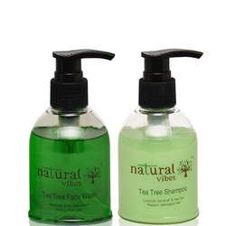 Natural Vibes Ayurvedic Face Wash & Shampoo Everyday Treatment 2 Products