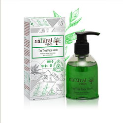 Natural Vibes Tea Tree Ayurvedic Face Wash 150 ml