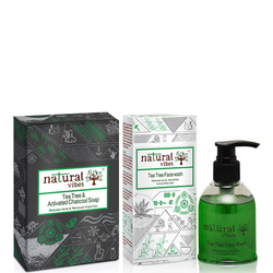 Natural Vibes Tea Tree & Activated Charcoal Bath & Body Treatment 2 Products