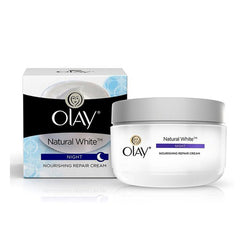 Olay Natural White Night Nourishing Repair Cream, 50 gm