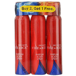 Revlon Fire and Ice Perfume Body Spray Women Combo(Pack of 3) (100ml)