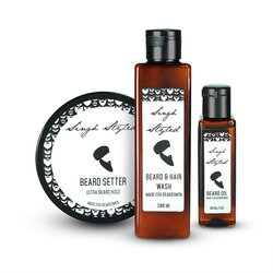 Singh Styled Beardsmen Kit - Beard Setter, Beard And Hair Wash And Beard Oil
