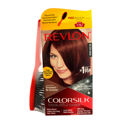Revlon  Colorsilk Beautiful Color With 3d Color Gel Technology With Revlon Hair Brush Free