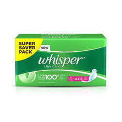 Whisper Ultra Clean XL Wings Sanitary Pads - 30 Count