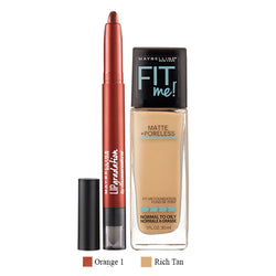 Combo Fit Me Matte Poreless + New York Lip Gradation
