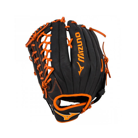 "Mizuno MVP Prime SE 6 12.75"" Baseball Glove - Black/Orange - 2018 Model - LHT"
