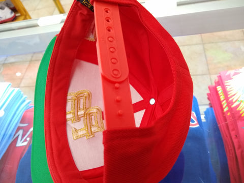 Puerto Rico Snapback  Red/Metallic Gold hats