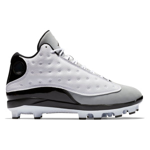 Jordan Men's Baseball Cleat Air XIII Retro WHITE-GRAY MCS