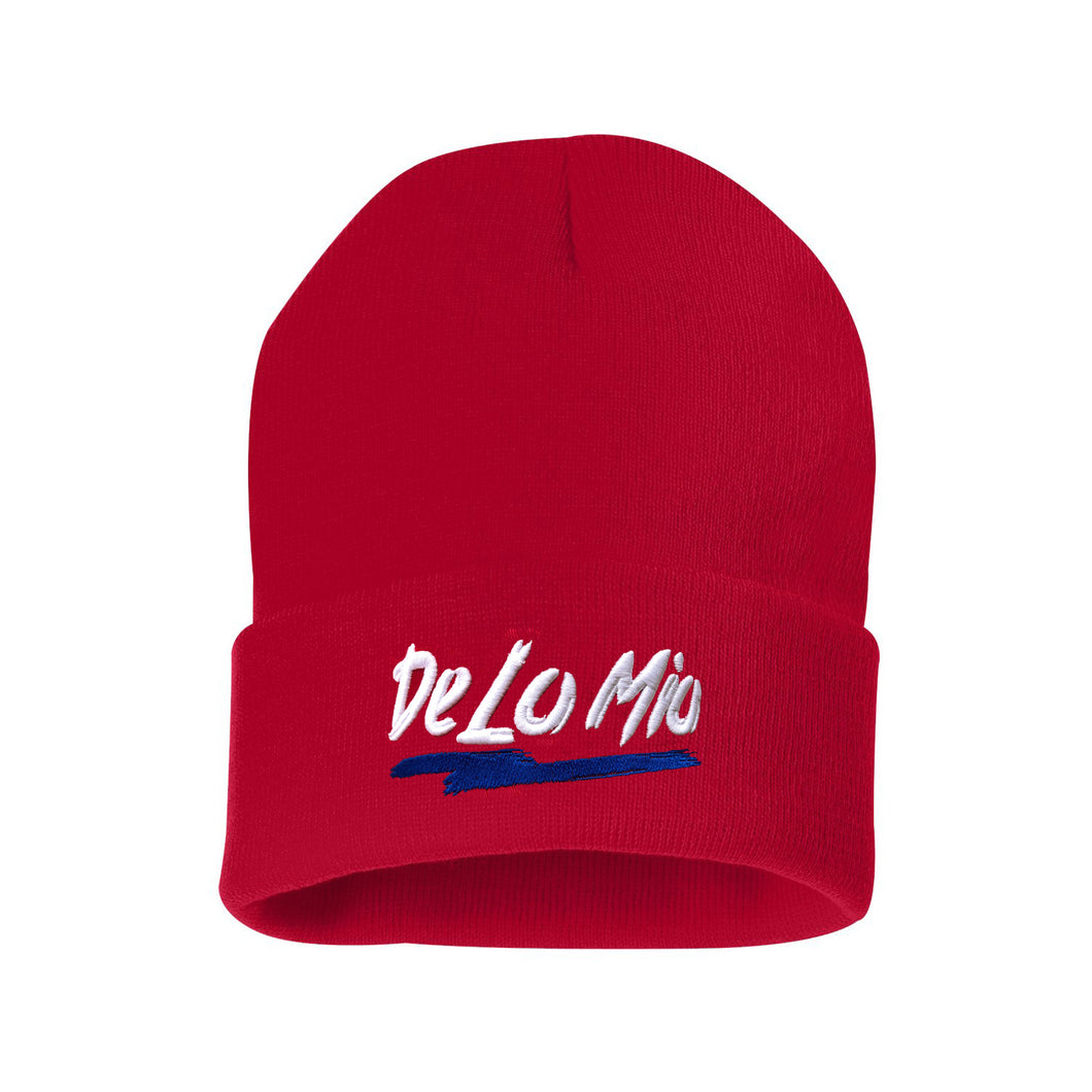 De lo mio Skully Beanie Red Hat