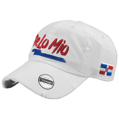De lo mio embroidered  Logo Vintage White Hat