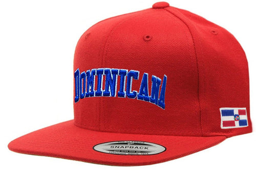 Dominican Republic SnapBack RED Cap (Dominicana)