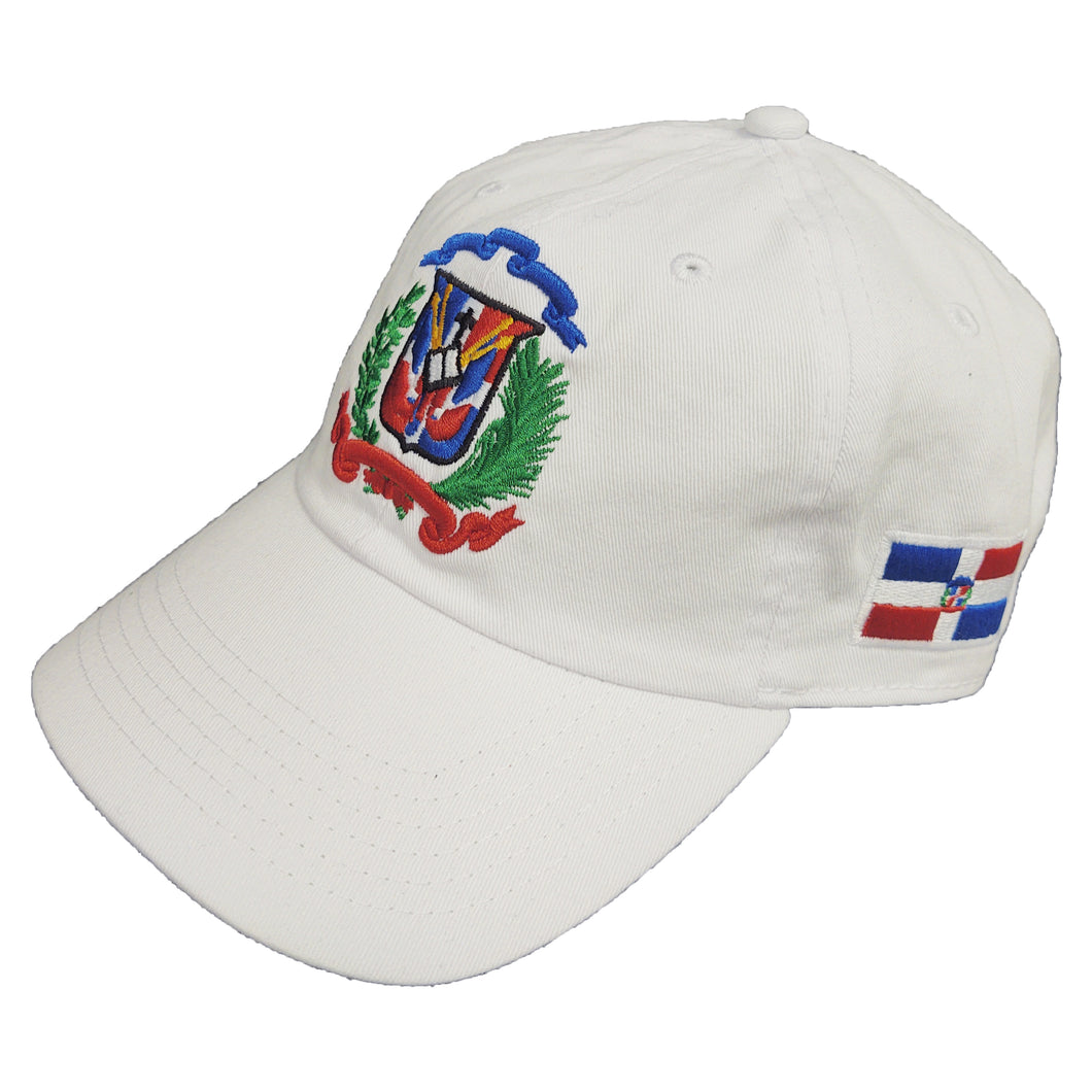Escudo Republica Dominicana - Dominican Shield White/Full Color Dad Hat