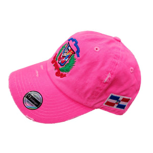 Vintage Adjustable Dominican Shield Neon Pink Hats