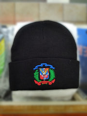 Dominican Shield Skully Black  Beanie Hat
