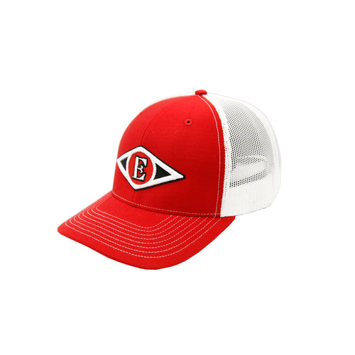Leones del Escogido - Embroidered, Mesh Trucker Red/White Caps
