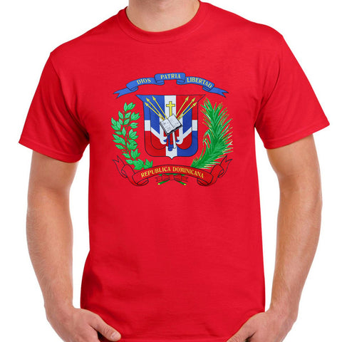 T-Shirts with Shield Dominican - Camiseta con Escudo Dominicano