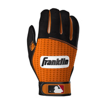 Franklin Pro Classic ADULT Black and Orange Batting Gloves - Peligro Sports Edition